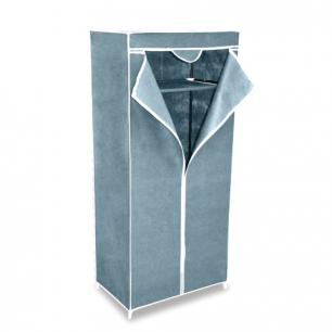 Шкаф тканевый для одежды (в1550*ш700*г440мм), металлический каркас, чехол серый, 2012