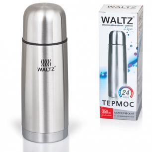 Термос WALTZ (ВАЛЬЦ)  классический с узким горлом, 0,35 л, нержавеющая сталь, 601411