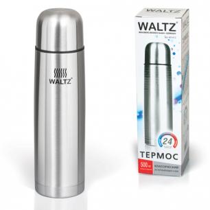 Термос WALTZ (ВАЛЬЦ)  классический с узким горлом, 0,5 л, нержавеющая сталь, 601412
