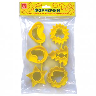 Формочки для лепки ЛУЧ №2, НАБОР 6 шт., 22С1420-08