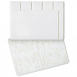 Доска для работы с пластилином ЛУЧ А4, 297х210 мм, белая, с 4 рельефными трафаретами, 17С1172-08