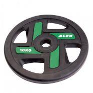 Диск полиуретановый зелёный, D 51, 10 кг P-TPU-10K-ALEX