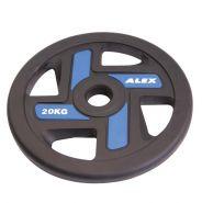 Диск полиуретановый синий, D 51, 20 кг P-TPU-20K-ALEX
