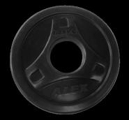 Диск обрезиненный черный, D 51, 1,25 кг P-ROB-1.25K-Alex