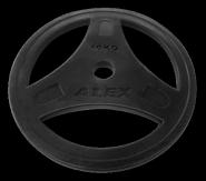 Диск обрезиненный черный, D 51, 10 кг P-ROB-10K-Alex