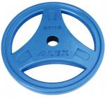Диск обрезиненный цветной синий, D 51, 20 кг P-ROBC-20K-Alex