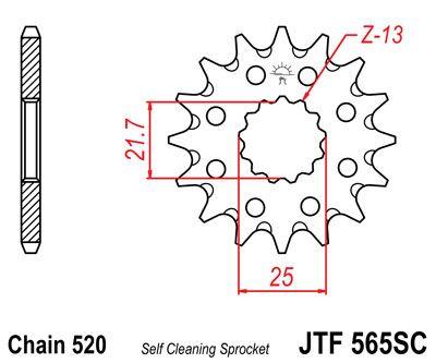 JTF 565SC, звезда передняя самоочищающаяся