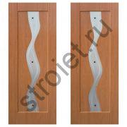 Двери межкомнатные Водопад миланский орех пвх