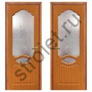 Двери межкомнатные Венеция миланский орех пвх