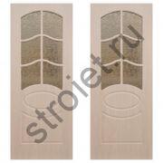 Двери межкомнатные Неаполь дуб беленый пвх