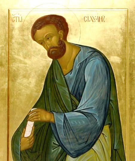 Икона Силуан Солунский, апостол от 70-ти (рукописная)