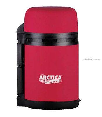 Купить Термос Арктика с широким горлом 203-800 (универсальный, резин. напылением, розовый 800 мл)