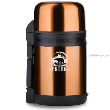 Купить Термос Арктика с широким горлом 202-1000 (1000 мл) кофейный
