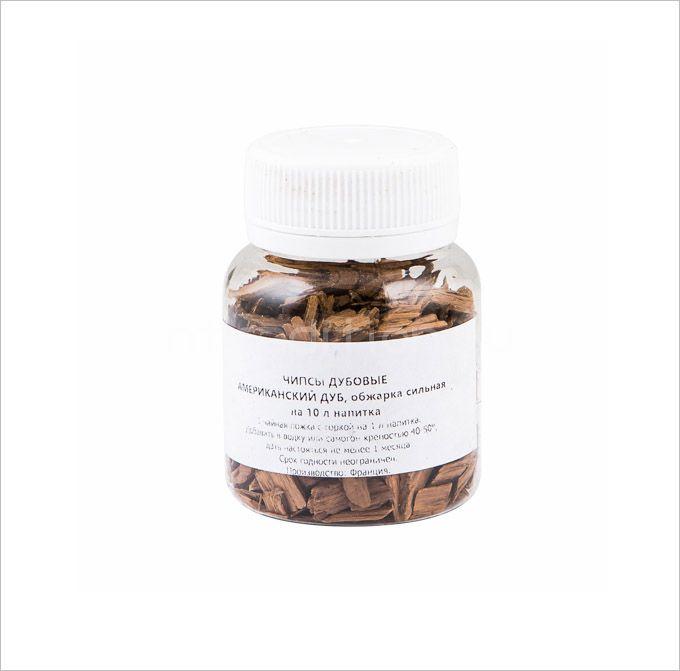 Дубовые чипсы Американский дуб, на 10 л., сильный обжиг (Франция)