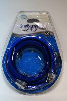 Vaserzberg Душевой шланг 150см пвх-виниловый, синий, квадратный 013