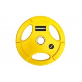 Диск обрезиненный жёлтый  WP074-15.0, диаметр 51мм, 15кг