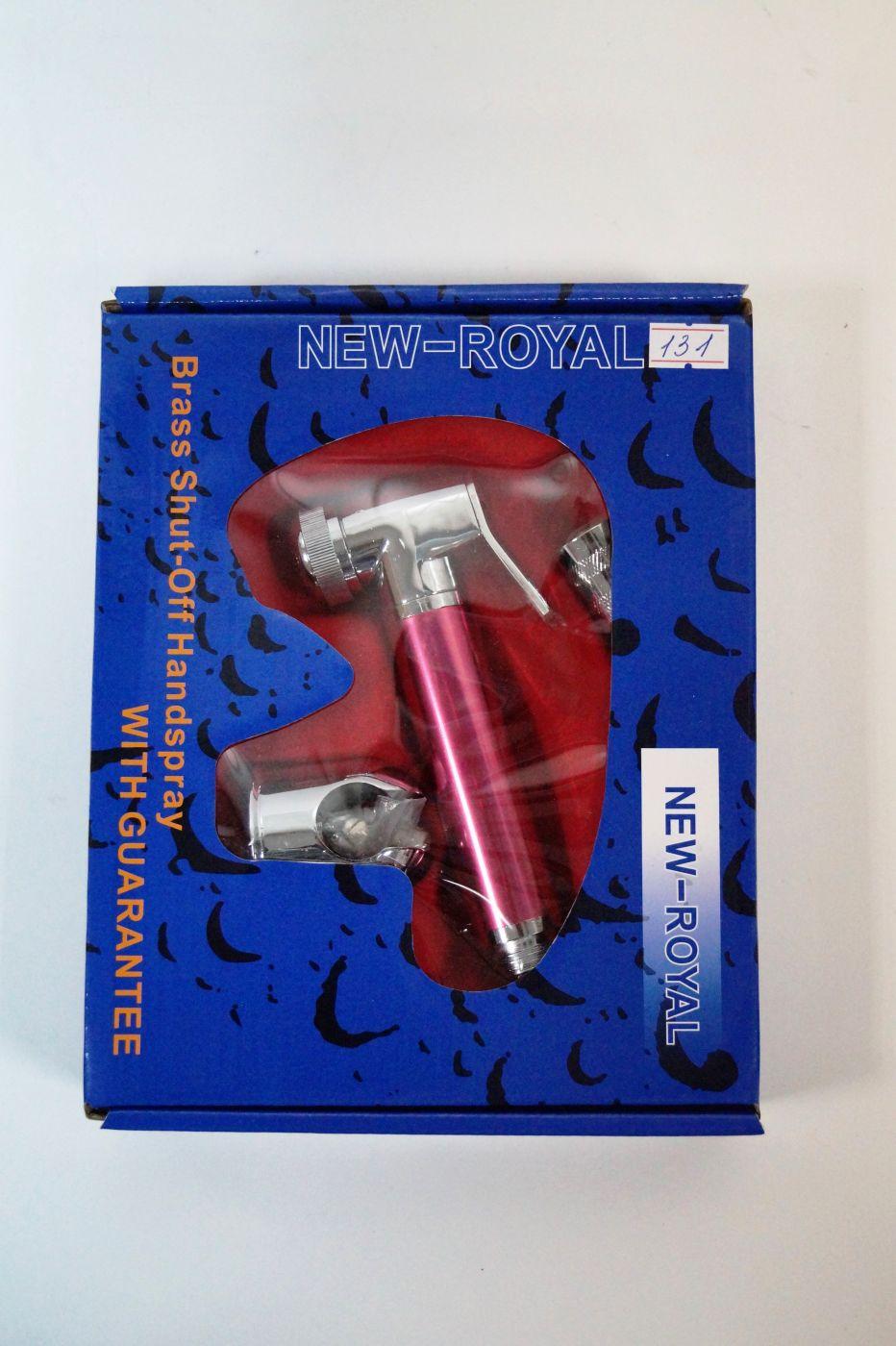Гигиенический набор с хромированной лейкой с розовой ручкой 131