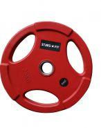 Диск обрезиненный красный  WP074-2, диаметр 51мм, 25кг