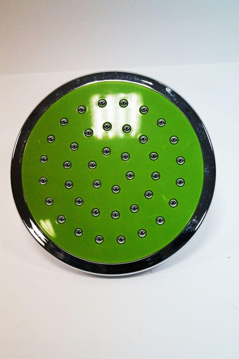 АА-112, Круглая, зеленая, потолочная лейка, с вставками