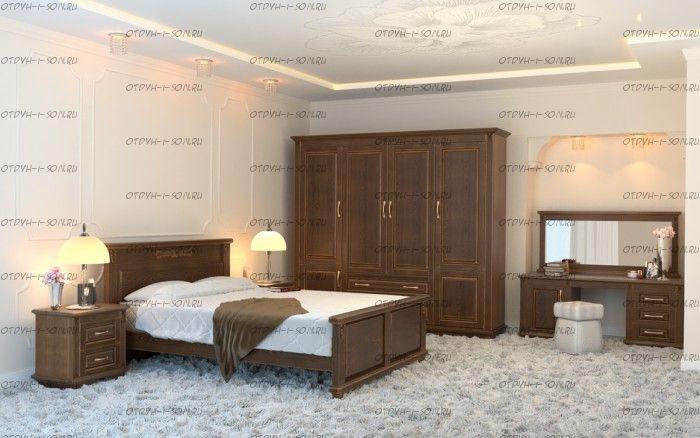 Кровать Палермо Венециано 1 Массив DreamExpert с низким изножьем
