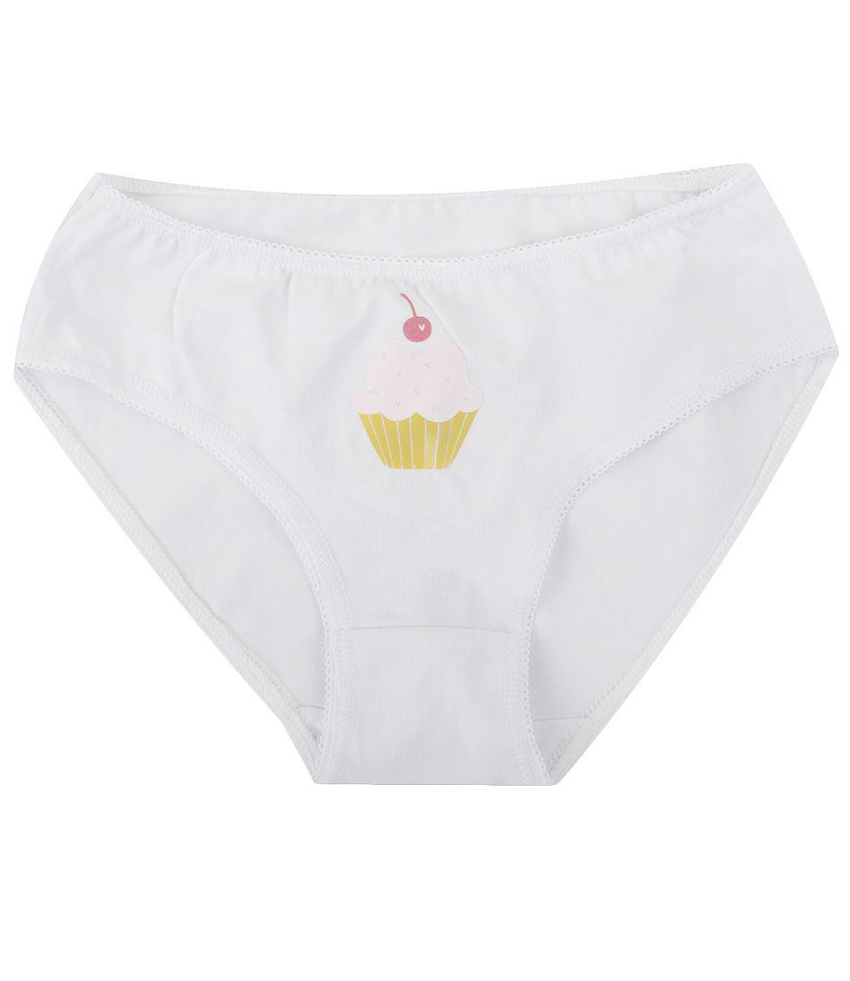 Белые трусики для девочки Пирожное