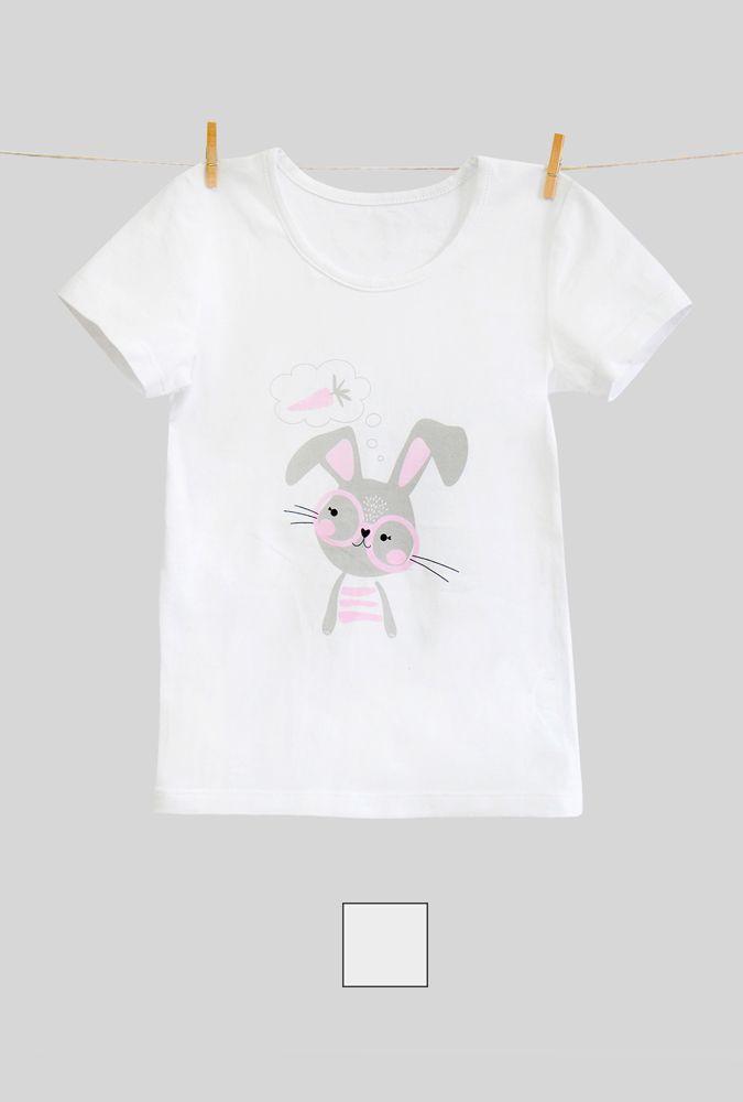 Майка для девочки с принтом зайца