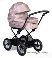 Детская модульная комбинированная коляска Babyhit Evenly 2 в 1 цвет шоколадная с кругами