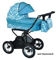Детская модульная комбинированная коляска Babyhit Evenly 2 в 1 цвет бирюзовый