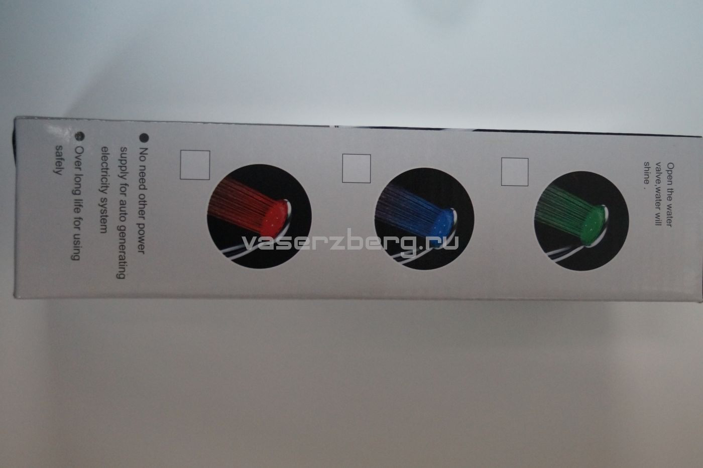 АА-117, светодиодная хромированная лейка для душа