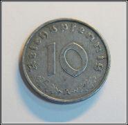 Германия 10 пфеннингов 1942 A Третий Рейх, отличные