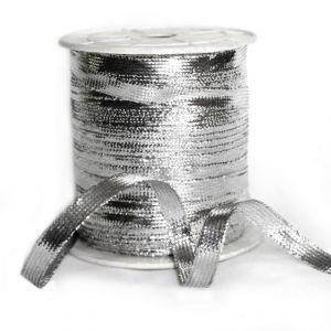`Шнур плоский, ширина 4 мм, цвет серебро