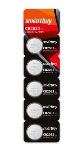 Батарейка литиевый элемент питания (диск) Smartbuy CR2032/5B
