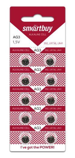 Батарейка часовая Smartbuy AG3-10B