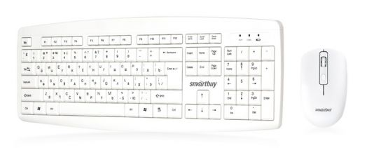 Клавиатура+мышь Комплект Smartbuy ONE 212332AG белый