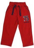 Теплые красные брюки для мальчика
