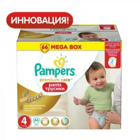 Трусики Pampers Premium care 4 (9-14 кг) 66 шт