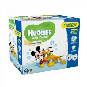 Подгузники Huggies Ultra Comfort для мальчиков 4 (8-14 кг) Disney Box 126 шт.