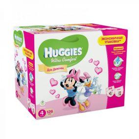 Подгузники Huggies Ultra Comfort для девочек 4 (8-14 кг) Disney Box 126 шт.