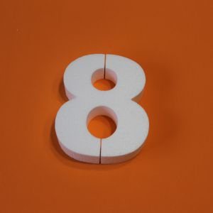 "Цифра ""8"" 15 см, пенопласт (1уп = 5шт)"