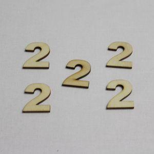 """Заготовка цифра """"2"""" высота 3 см, фанера 3 мм (1уп = 20шт)"""