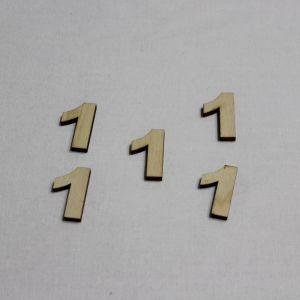 """Заготовка цифра """"1"""" высота 3 см, фанера 3 мм (1уп = 20шт)"""