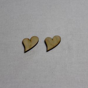 """Заготовка """"Сердце не симметричное"""" высота 3 см, фанера 3 мм (1уп = 20шт)"""