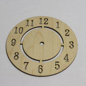"""Заготовка """"Часы круглые"""" высота 15 см, фанера 3 мм (1уп = 5шт)"""