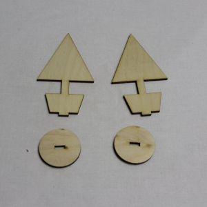 """Заготовка для топиария """"Конус с подставкой"""" высота 10 см, фанера 3 мм (1уп = 10шт)"""