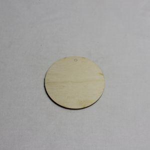 """Заготовка """"бирка круглая""""  высота 9 см, фанера 3 мм (1уп = 10шт)"""