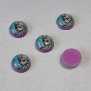 Кабошон (пластик) 22 мм, 1уп=10шт, Арт. КБП0261