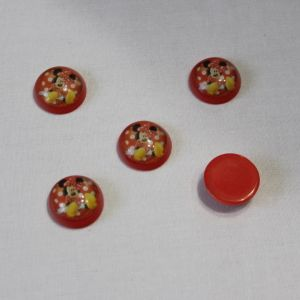 Кабошон (пластик) 22 мм, 1уп=10шт, Арт. КБП0262