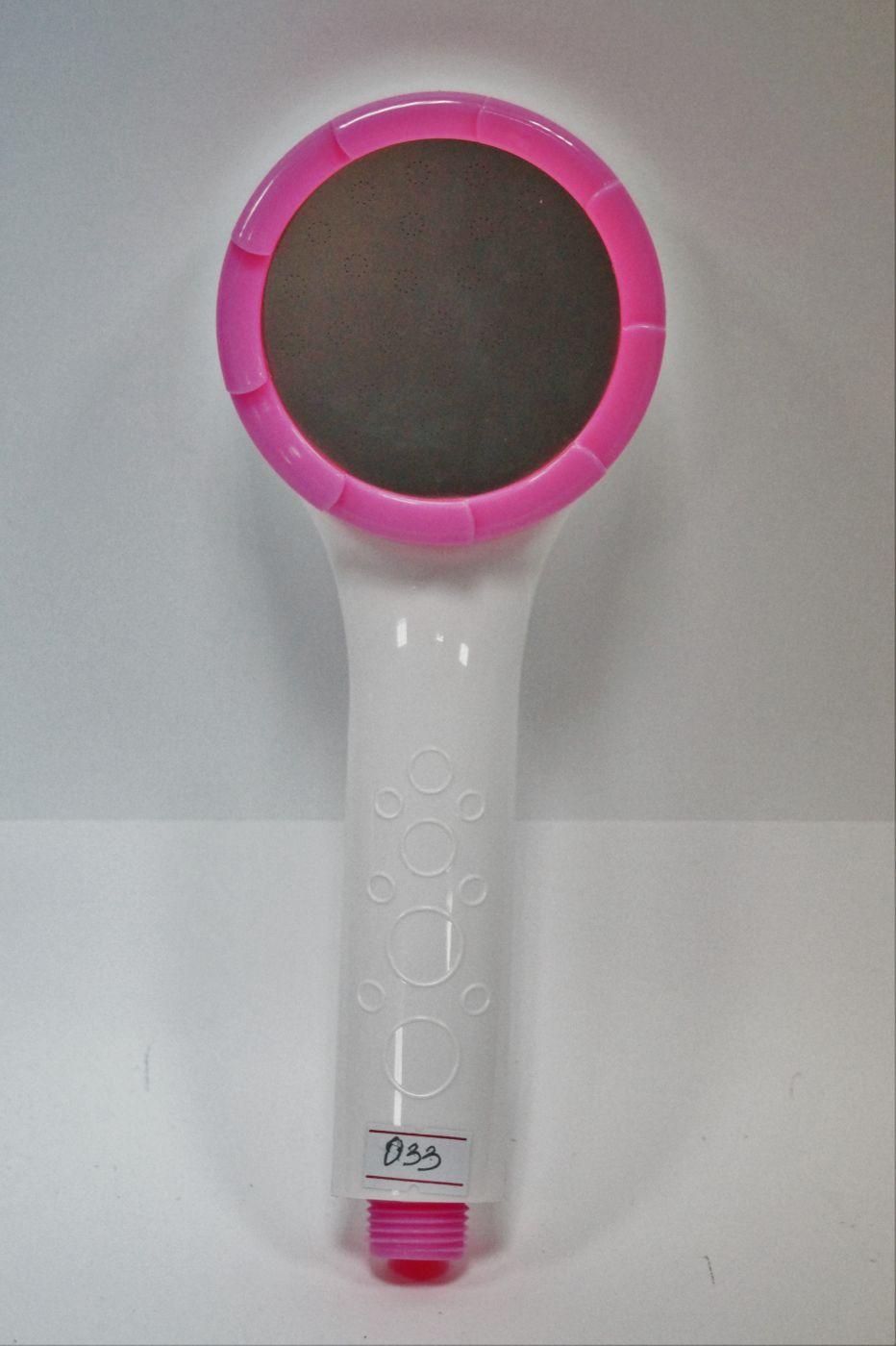 АА-033, белая лейка с розовыми и хромированной вставками