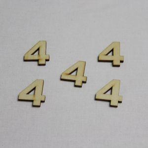 """`Заготовка цифра """"4"""" высота 3 см, фанера 3 мм"""