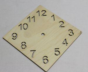 """`Заготовка """"Часы ромб"""" высота 15 см, фанера 3 мм"""